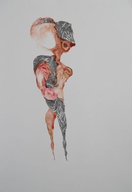 Acrylic & graphite 38x25 inches, 2009